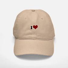 i heart Baseball Baseball Cap