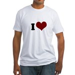 i heart Fitted T-Shirt