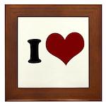 i heart Framed Tile