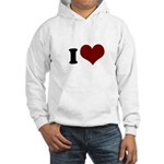 i heart Hooded Sweatshirt