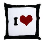 i heart Throw Pillow