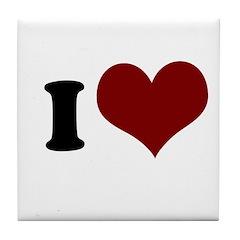 i heart Tile Coaster