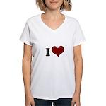 i heart Women's V-Neck T-Shirt