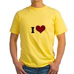 i heart Yellow T-Shirt