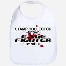 Stamp Collector Cage Fighter by Night Bib