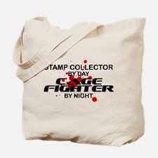Stamp Collector Cage Fighter by Night Tote Bag