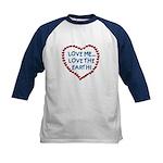Love Me, Love the Earth Kids Baseball Jersey