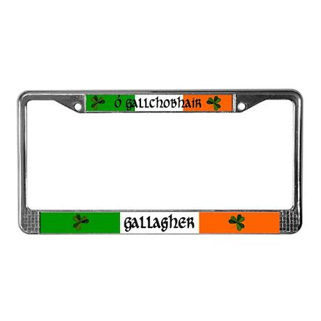Gallagher in Irish & English License Plate Frame