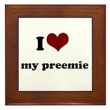 i heart my preemie Framed Tile