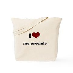 i heart my preemie Tote Bag