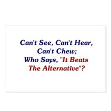 Can't See, Hear, Or Chew Postcards (Package of 8)