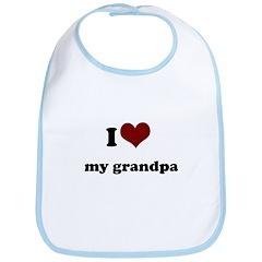 i heart my grandpa/ grandma Bib