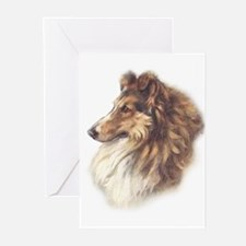 Vintage Sable Collie Greeting Cards (Pk of 10)