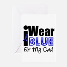 I Wear Blue (Dad) Greeting Cards (Pk of 10)