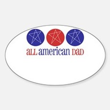 All American Dad Oval Decal