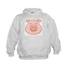 Happy Pig Face Hoodie