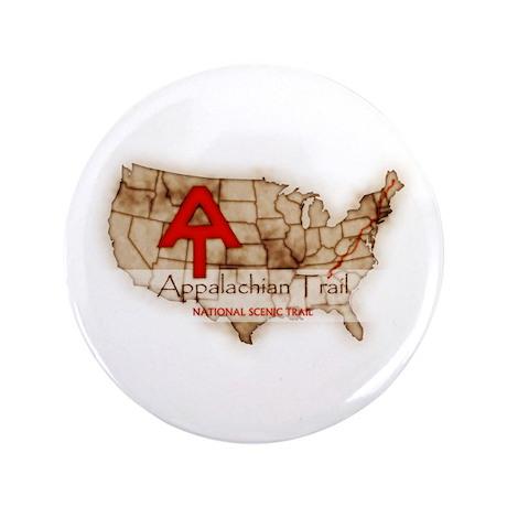 """Antique Appalachian Trail 3.5"""" Button"""