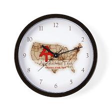 Antique Appalachian Trail Wall Clock