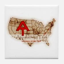 Antique Appalachian Trail Tile Coaster