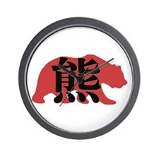 Asian Bear Wall Clock