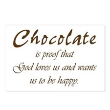 Chocolate is proof that God loves us Postcards (Pa