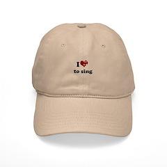 i heart to sing Baseball Cap