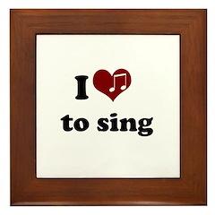 i heart to sing Framed Tile