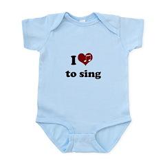 i heart to sing Infant Bodysuit