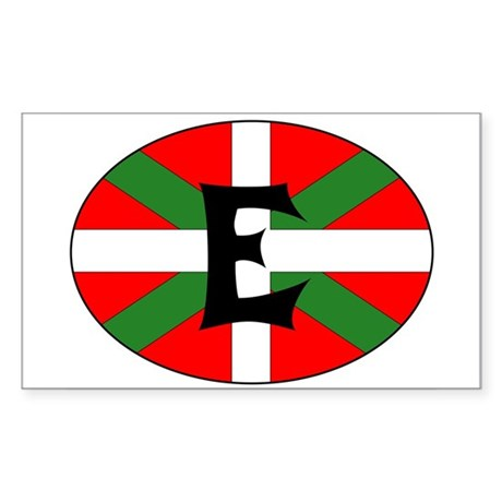 E Flag Rectangle Sticker