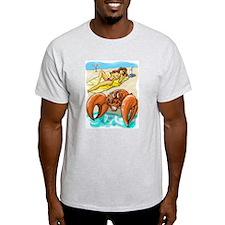 Crabby Beach Ash Grey T-Shirt