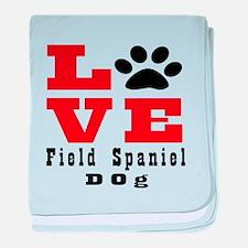 Love Field Spaniel Dog Designs baby blanket