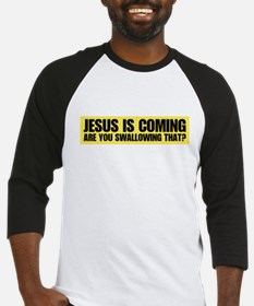 jesus is coming are you swall Baseball Jersey