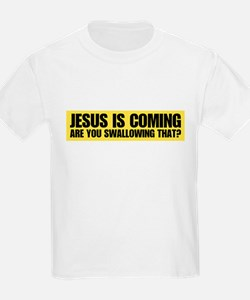 jesus is coming are you swall Kids T-Shirt