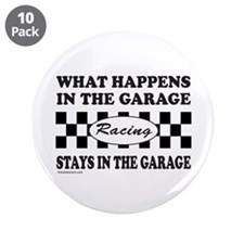 """AUTO RACING 3.5"""" Button (10 pack)"""