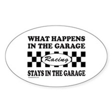 AUTO RACING Oval Decal