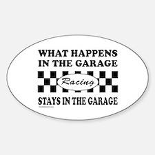 AUTO RACING Oval Decal