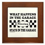 Dirt track car racing Framed Tiles