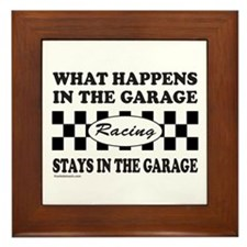 AUTO RACING Framed Tile