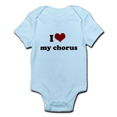 i heart my chorus Infant Bodysuit