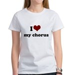 i heart my chorus Women's T-Shirt