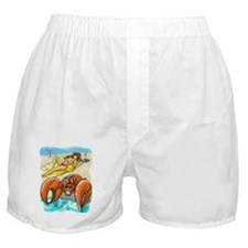 Crabby Beach Boxer Shorts