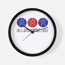 All American Dad Wall Clock
