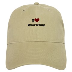 i heart quarteting Baseball Cap