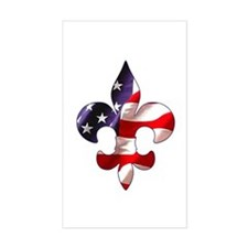 Fleur de lis Stars & Stripes Rectangle Decal