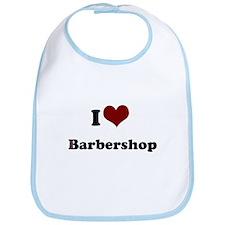 i heart barbershop Bib