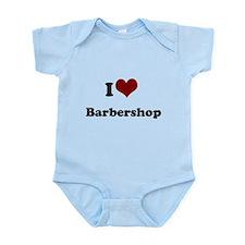 i heart barbershop Infant Bodysuit
