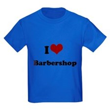 i heart barbershop Kids Dark T-Shirt