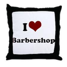 i heart barbershop Throw Pillow