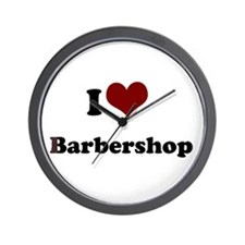 i heart barbershop Wall Clock