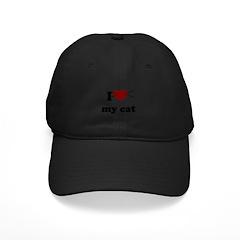 i heart my cat Baseball Hat